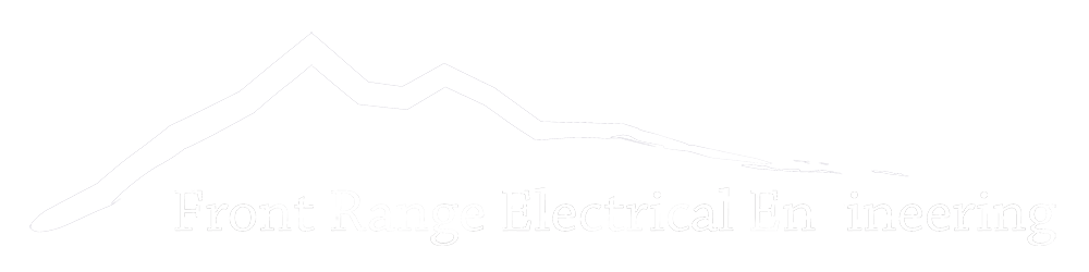 Front Range Electrical Engineering Carlton Fretwell Carl Denver Colorado Electric Lighting Engineers Logo White Header